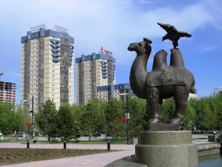 Central park in Nursultan Astana