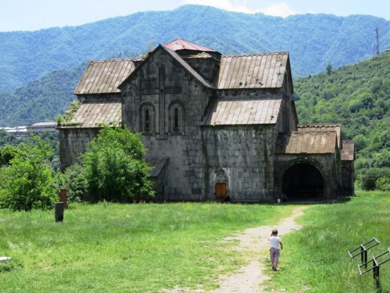 Akhtala monastery in the Debed Canyon in Armenia