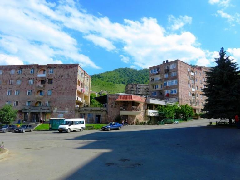 Alaverdi town in the Debed Canyon in Armenia