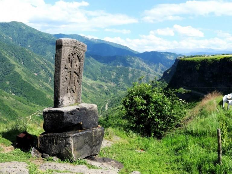 Kachkars in the Debed Canyon in Armenia