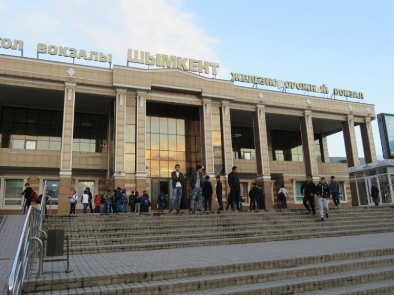 Train station in Shymkent Kazakhstan