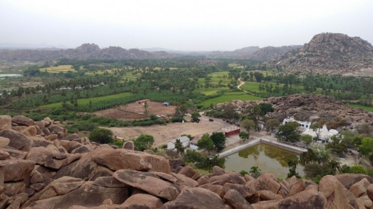 this view from the monkey temple makes it a great place to visit in Hampi