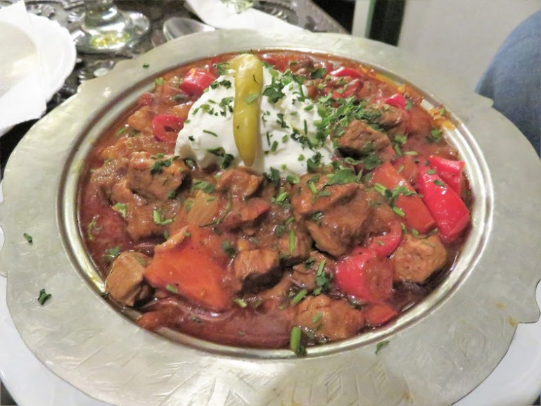 Muckalica at Inat Kuca restaurant in Sarajevo