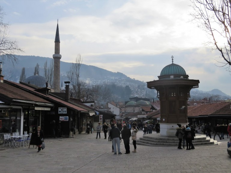 The Bascarsija in Sarajevo Bosnia