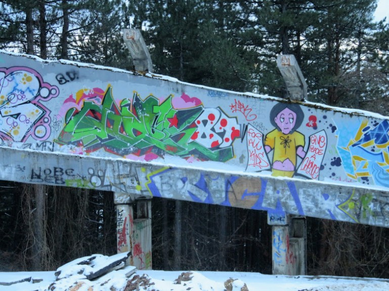 The abandoned bobsleigh track at Trebevic mountain