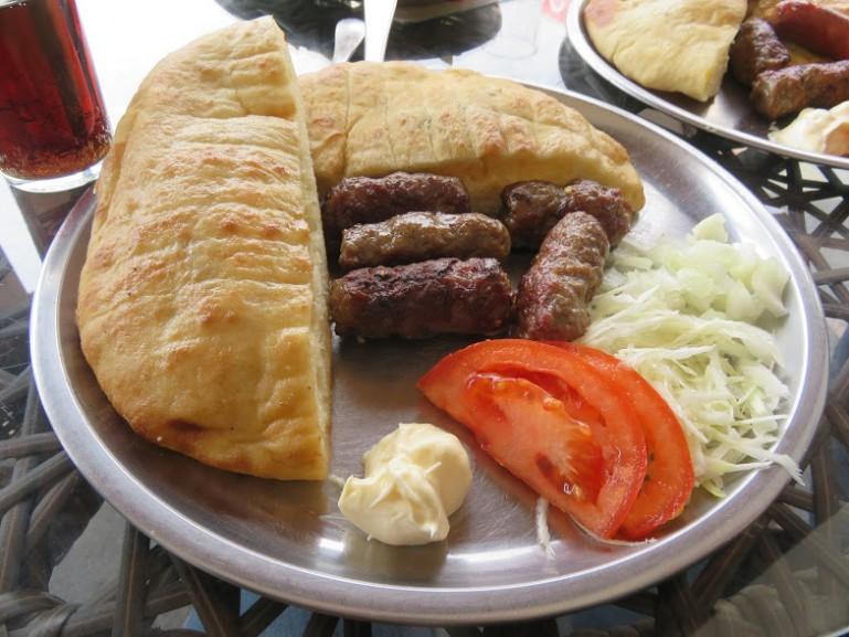 Cevapi are the most popular bosnian food in Sarajevo