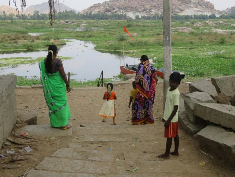 Lake in Hampi near Anegundi village