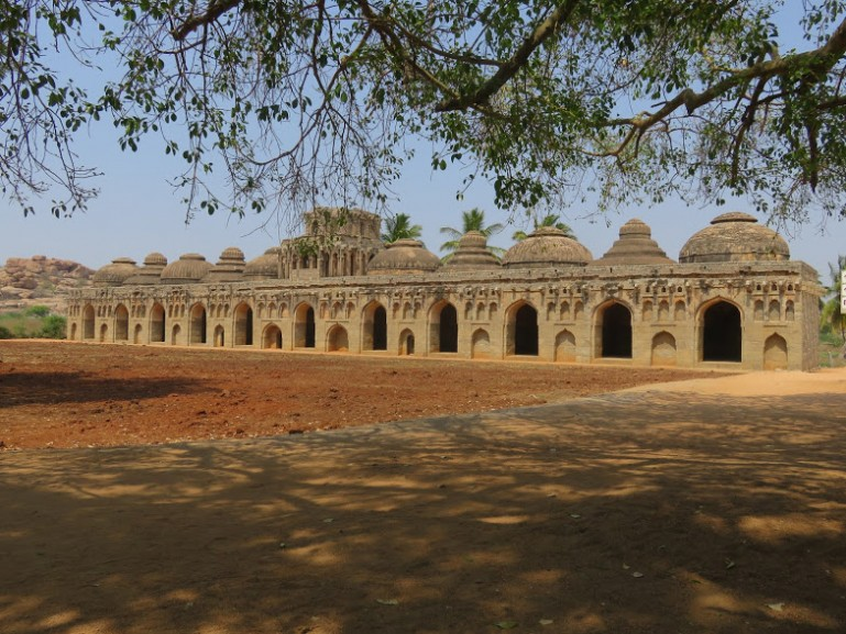 Elephant stables are among the most popular places to visit in Hampi
