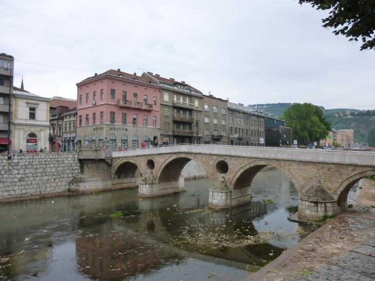 The latin bridge in Sarajevo Bosnia