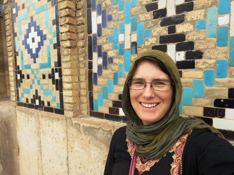 Me at a mosque during my solo female travel in Iran