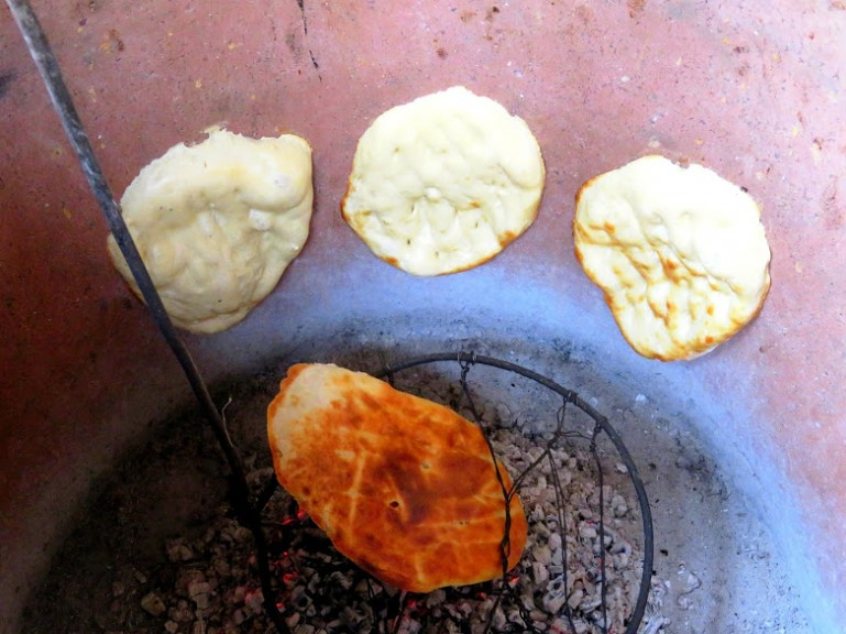Naan bread in Sheki
