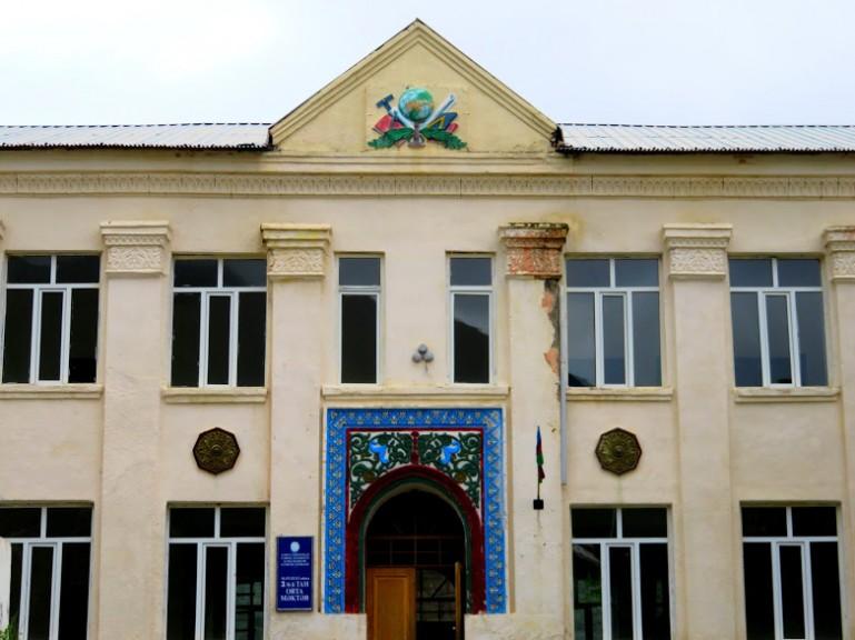 Old Soviet building in Sheki