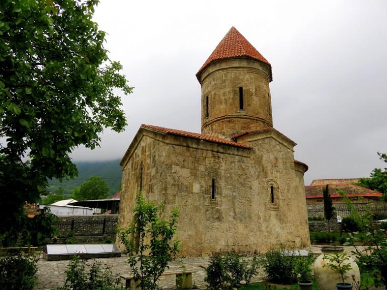 The Albanian church in Sheki