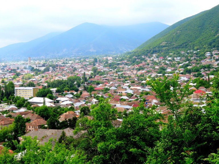 Panorama views over Sheki Azerbaijan