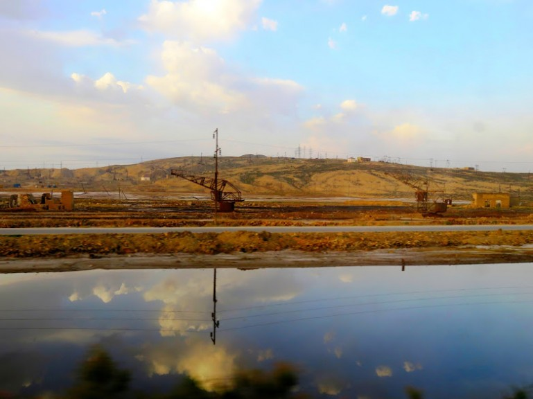 View from the train from Sheki to Baku