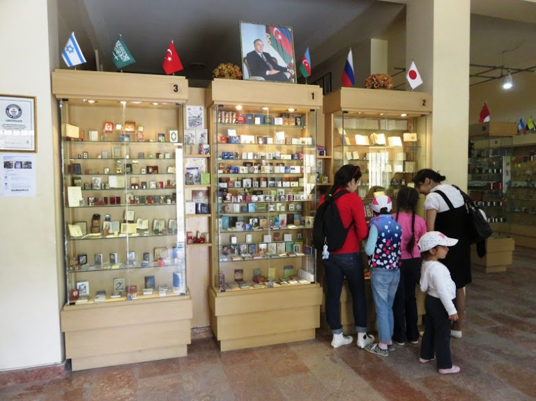 Miniature book museum is one of the free things to do in Baku