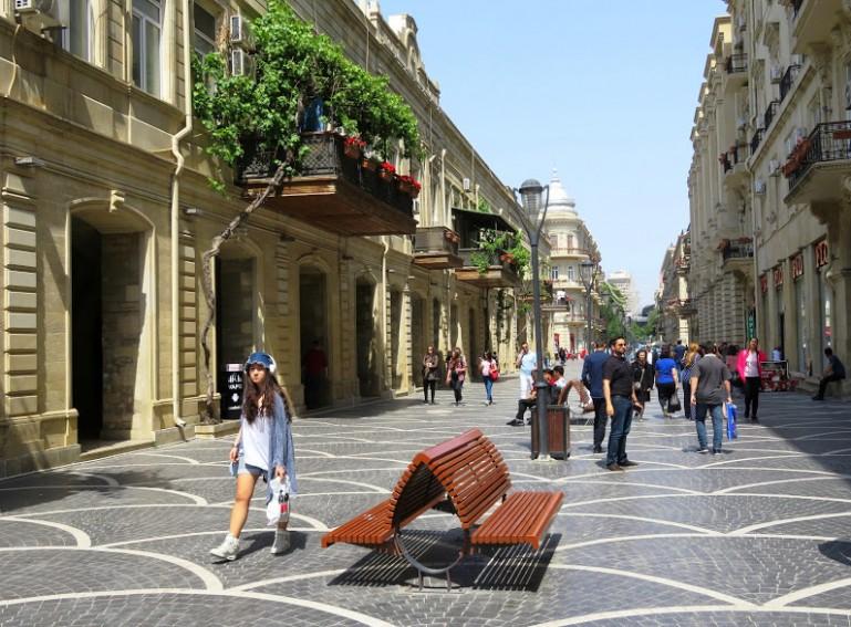 Nizami street in Baku