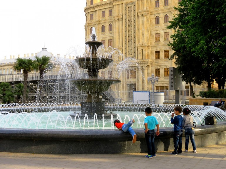 Fountain square in Baku
