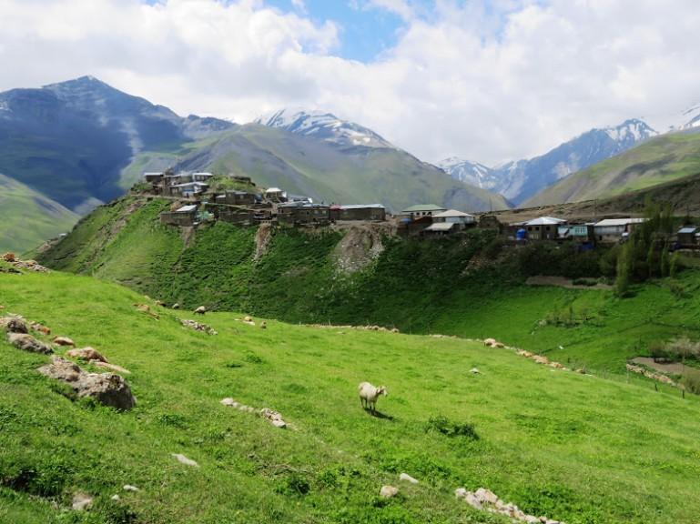 View from above Xinaliq, Khinaliq, Khinalug