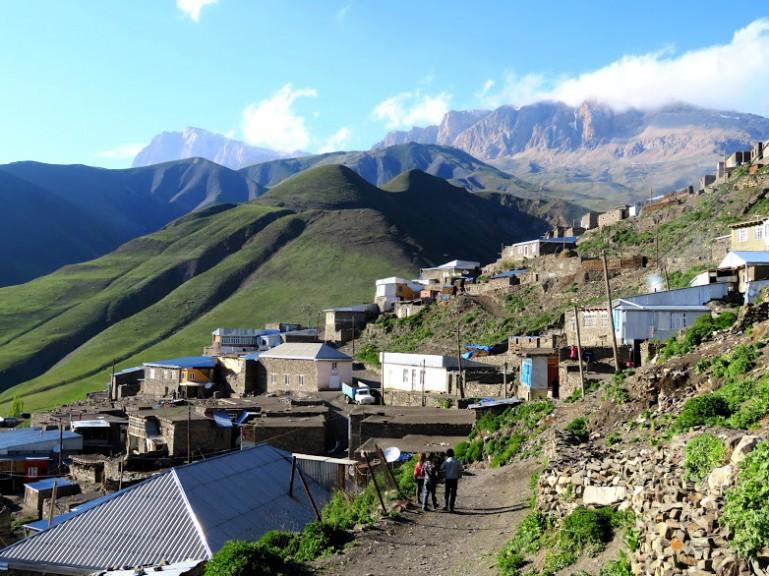 Homes in the village of Xinaliq, Khinaliq, Khinalug