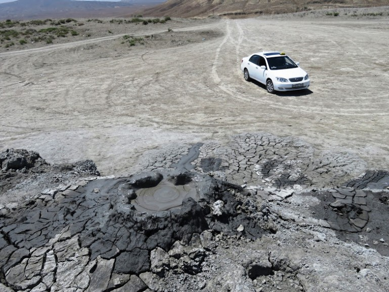 Gobustan mud volcanoes in the Absheron Peninsula