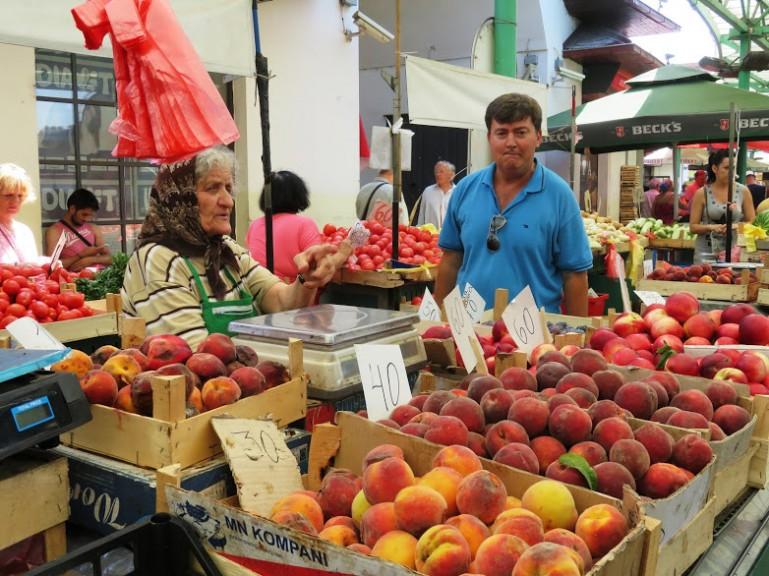 Zeleni Venac market is one of the best things to do in Belgrade Serbia