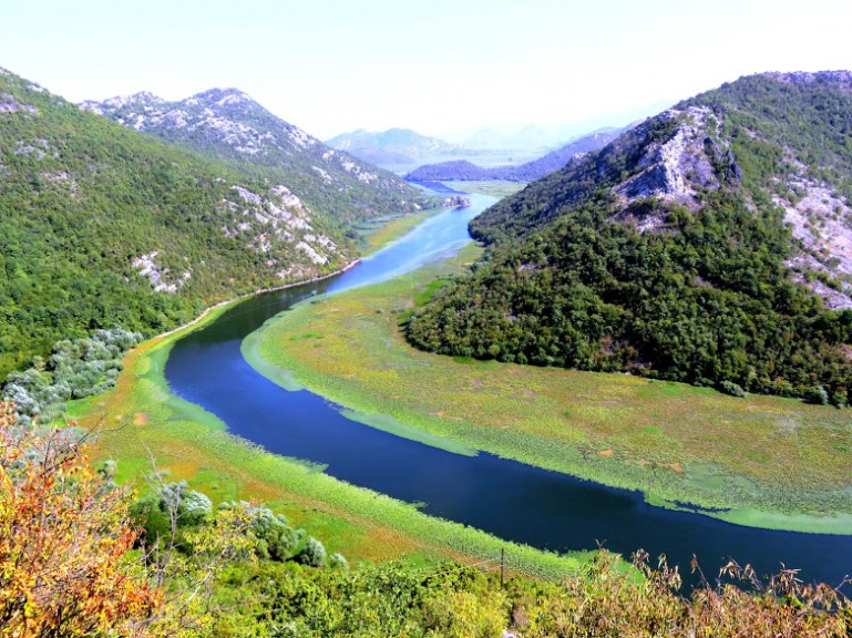 Lake Skadar in Montenegro