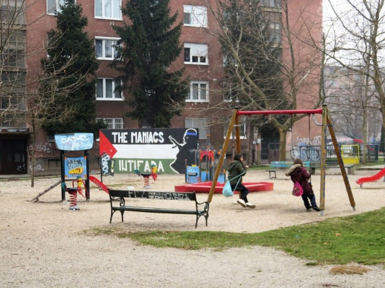 One of the suburbs in Sarajevo Bosnia