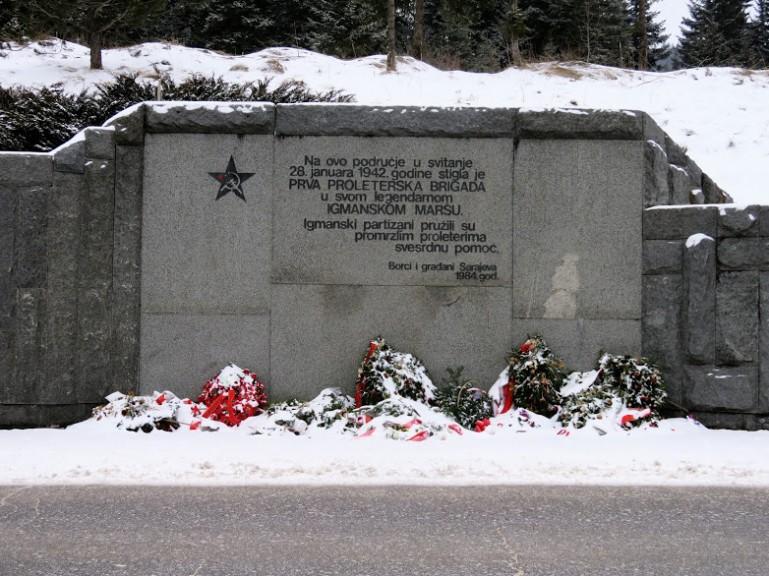 Partisan memorial at Igman Bosnia