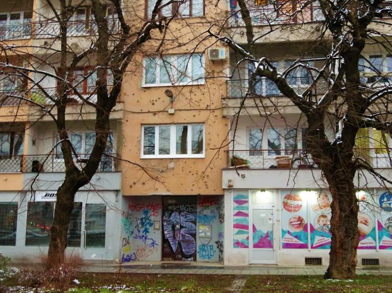 Suburbs in Sarajevo Bosnia