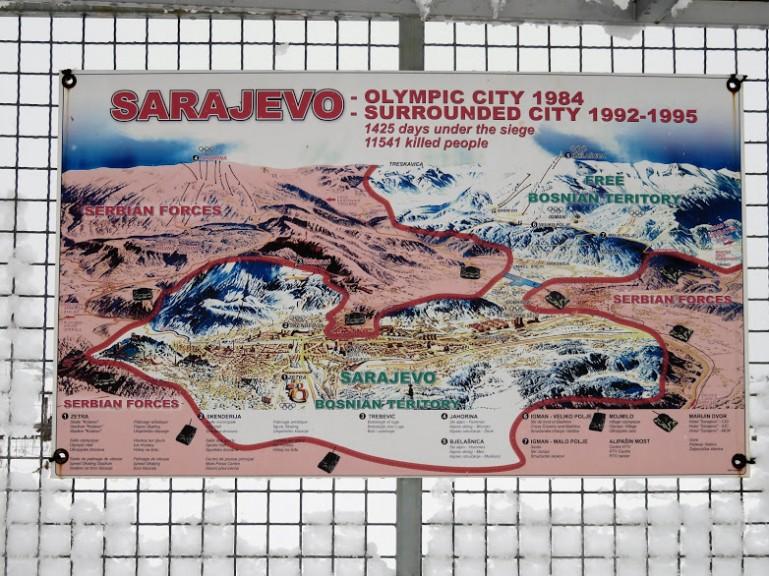 Image of the Siege in Sarajevo Bosnia