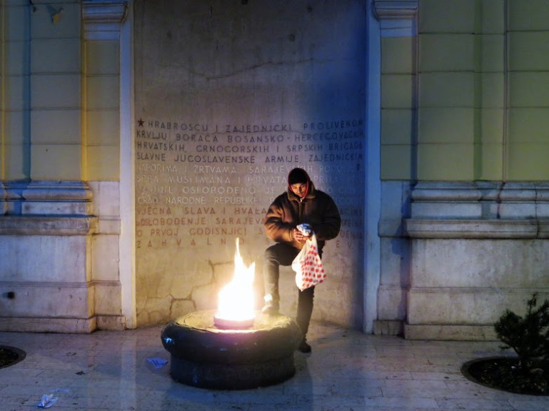 Eternal flame in Sarajevo Bosnia