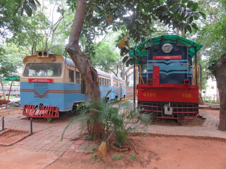 trains at the Mysore rail museum