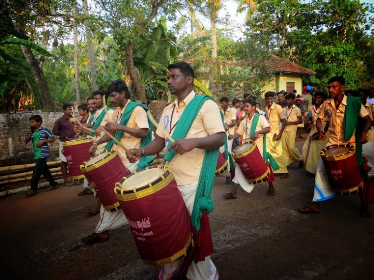Edava temple festival procession