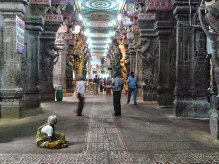 The thousand pillar hall at the Madurai Meenakshi temple