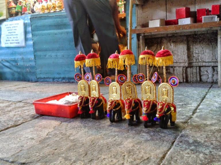 elephant souvenirs in the Madurai Meenakshi temple