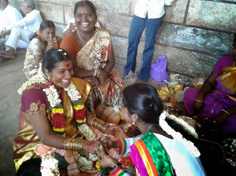 One of the Hindu ceremonies going on in the Madurai Meenakshi temple