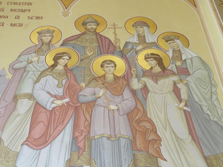 image of the last Romanov family at the Alexander Nevski church in Bender Tiraspol