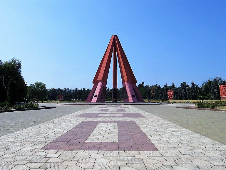 the war memorial in Chisinau