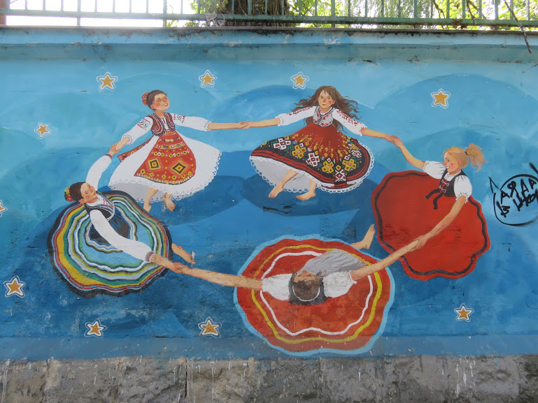 street art on the walls of the abandoned stadium in Chisinau