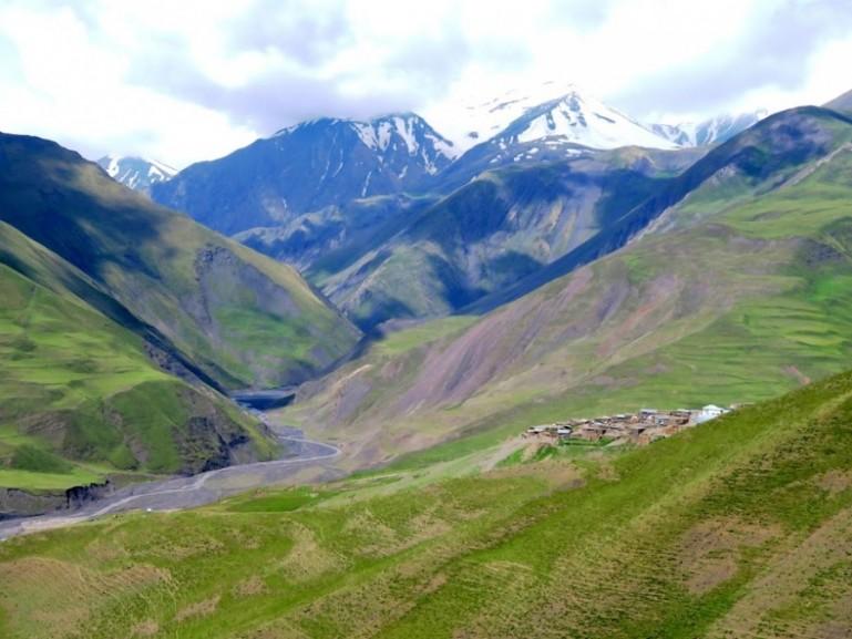 Azerbaijans mountains in Xinaliq, Khinaliq, Khinalug