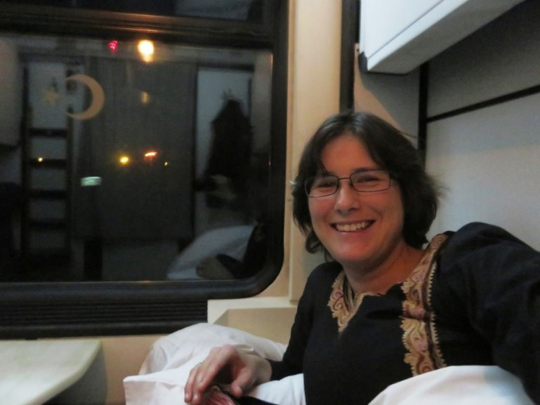 Ellis, as an independent budget traveller on the Dogu express in Turkey