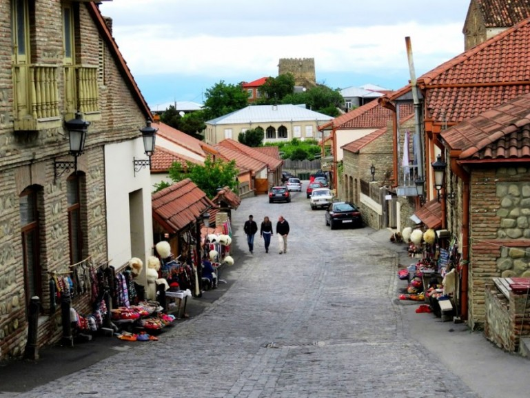 the main street in sighnaghi