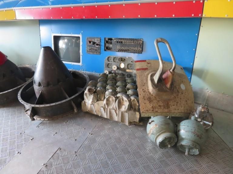 Space debris in the ecological museum in Karaganda