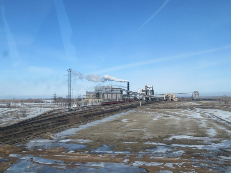 Steel factory near Karaganda