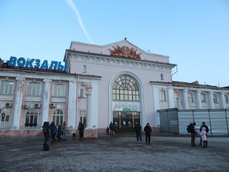 Train station in Karaganda Kazakhstan
