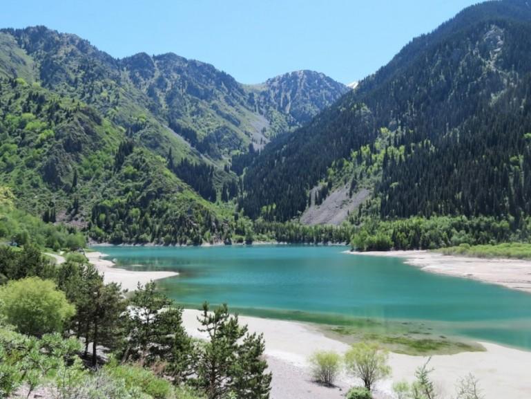 Lake Issyk in Kazakhstan