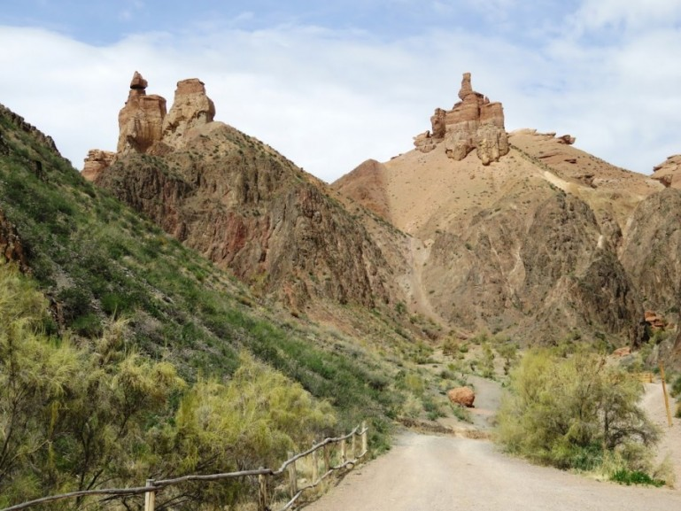 The valley of castles in the Charyn Canyon in Kazakhstan