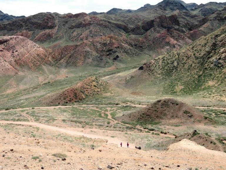 The Charyn Canyon in Kazakhstan