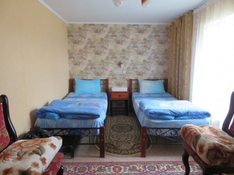 Inside room at Ruslan Guesthouse in Aksu Zhabagly
